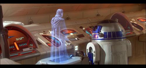 Obi Wan as a hologram